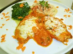Grilled Chicken Parmigiana