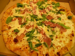 Pizza Bianca ai Prosciutto